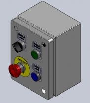 Diseño y fabricación de botoneras de 4 elementos en cajas metálicas